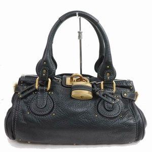 Auth Chloe Paddington Hand Bag Black #1790C76